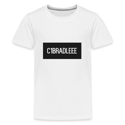 C1bradleee Text Logo - Teenage Premium T-Shirt