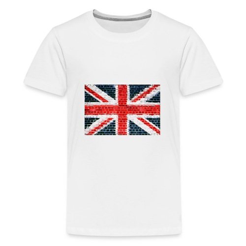 Union Jack Brick Wall - Teenage Premium T-Shirt