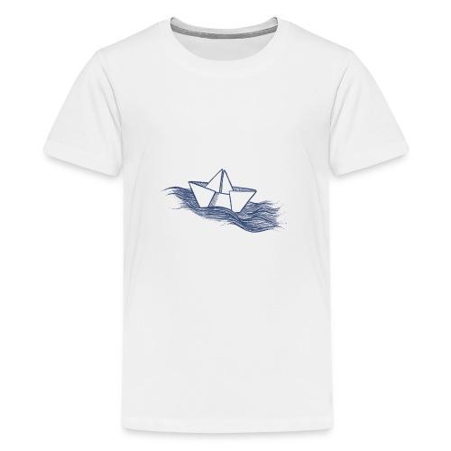 Schiff dunkelblau - Teenager Premium T-Shirt