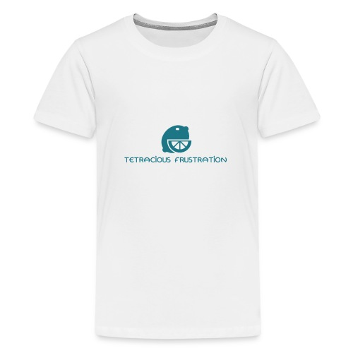 Coloured Tetracious Logo - Teenage Premium T-Shirt