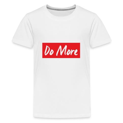 white logo color background - T-shirt Premium Ado