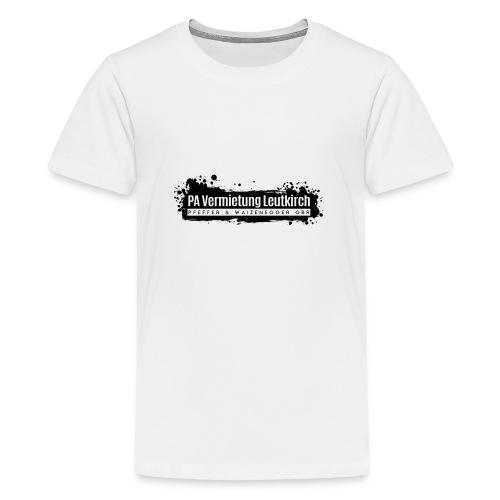 PA Vermietung Leutkirch Logo mit Klex - Teenager Premium T-Shirt