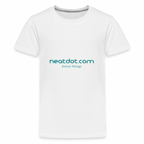 Logo Full slogan - Teenage Premium T-Shirt