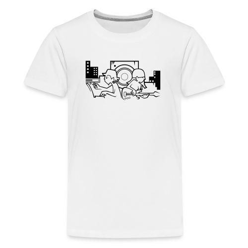 Raw Material Boy and Girl - Teenage Premium T-Shirt