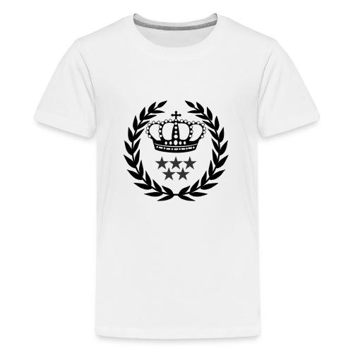5 Star Lorbeerenkranz mit Krone - Teenager Premium T-Shirt