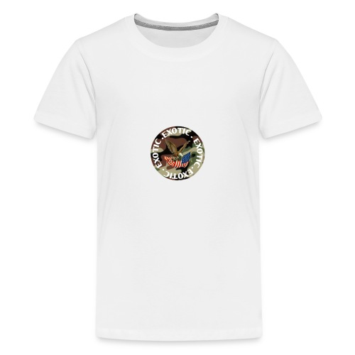 EXOTIC logo and circle - Teenage Premium T-Shirt