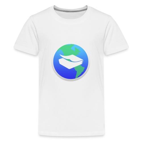 kaeru world icon - Teenage Premium T-Shirt