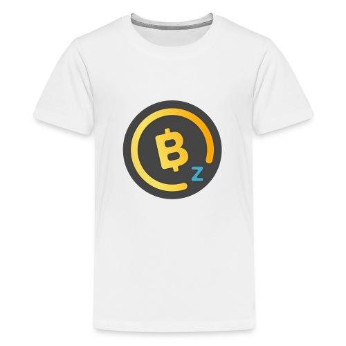 Dark BitcoinZ Logo - Teenage Premium T-Shirt