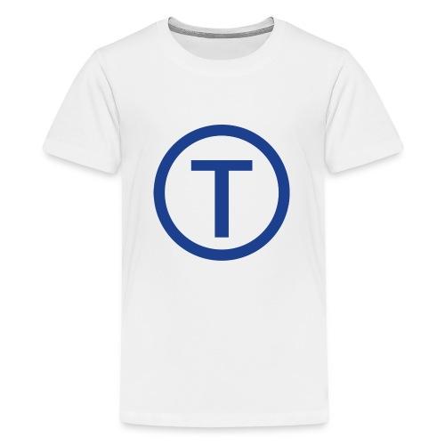 techwiz logo - Teenage Premium T-Shirt