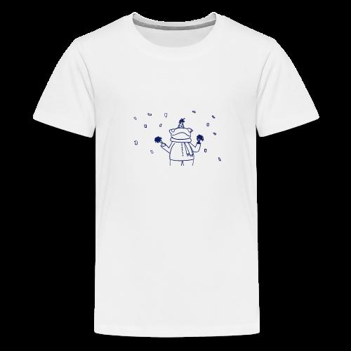 Confetti Frog - Teenage Premium T-Shirt