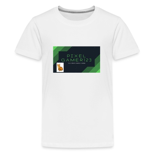 PIXEL GAMER123 HEADER - Teenage Premium T-Shirt