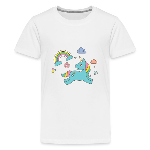 colored unicorn - Teenage Premium T-Shirt