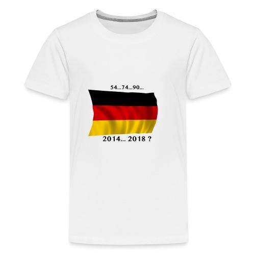 Deutschland Fussball WM Geschenkidee - Teenager Premium T-Shirt