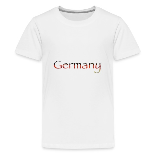 Deutschland Schriftzug Horizontal - Teenager Premium T-Shirt