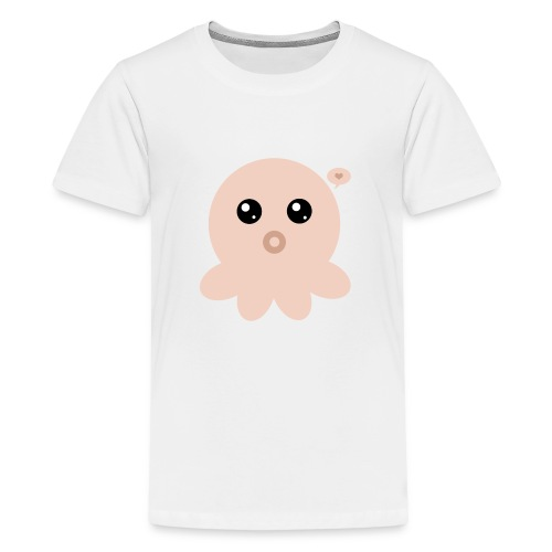 Poulpe Kawaii Orange - T-shirt Premium Ado