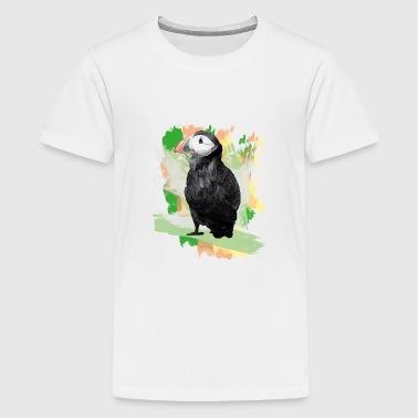 Papageientaucher Grafitti - Teenager Premium T-Shirt