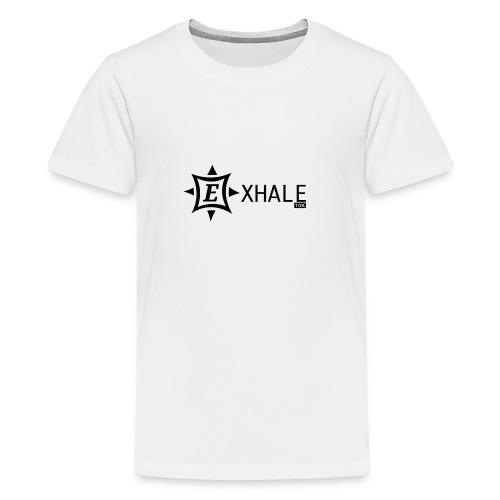 Exhale 10K White - Teenage Premium T-Shirt
