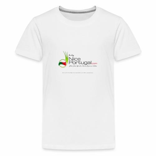 NicePortugal.com Logo - Maglietta Premium per ragazzi