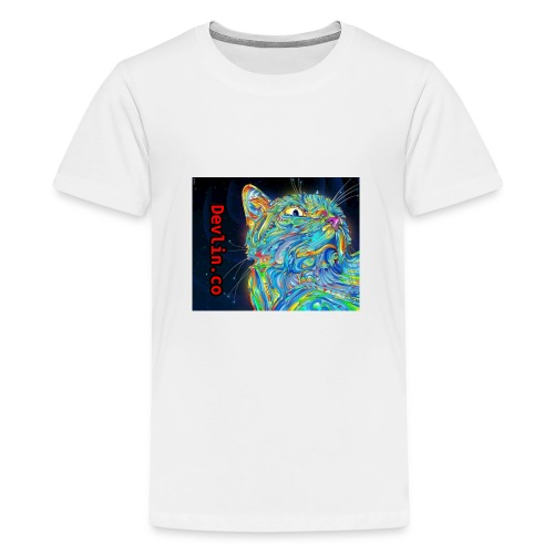 Trippy cat - Teenage Premium T-Shirt