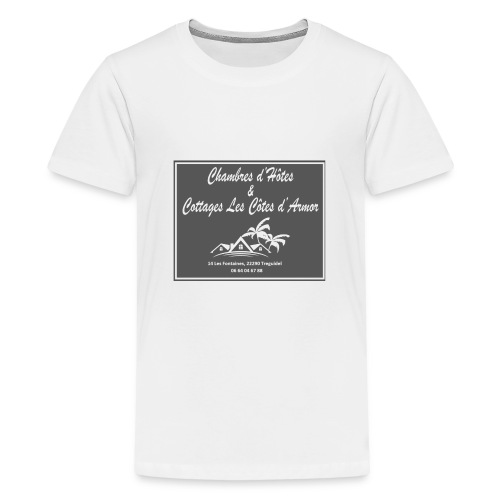 Logo officiel Chambres d'hôtes et Cottages - T-shirt Premium Ado