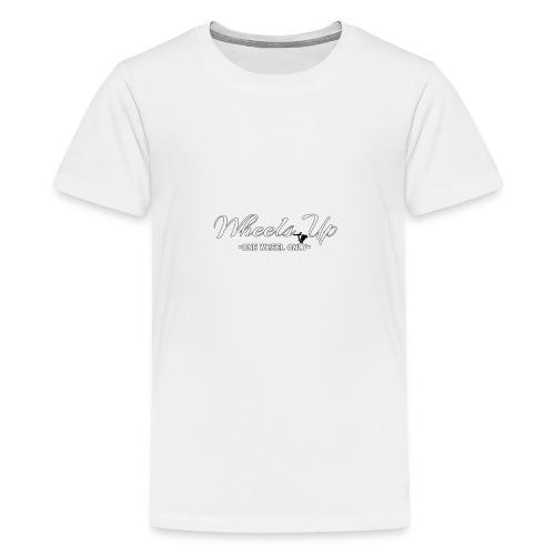 wheels up black figure - Teenage Premium T-Shirt