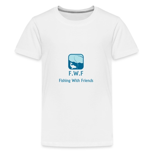 Fishing With Friends Logo - Teenage Premium T-Shirt