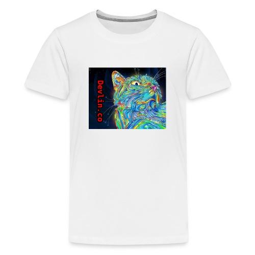 Trippy cat - Teenage Premium T-Shirt