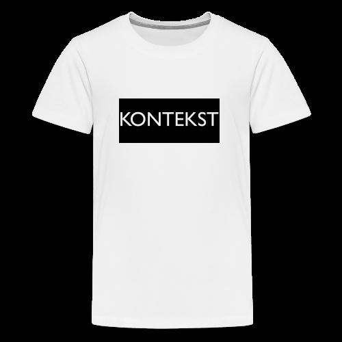 Kontekst Collection - Premium T-skjorte for tenåringer