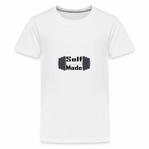 Self Made Black Text - Teenage Premium T-Shirt