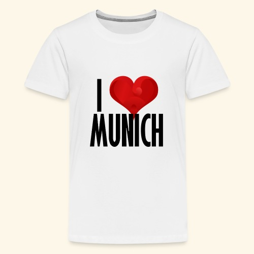 ICH LIEBE MUENCHEN schwarz - Teenager Premium T-Shirt