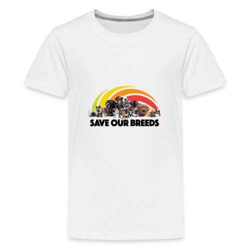 Love Not Hate - Teenage Premium T-Shirt
