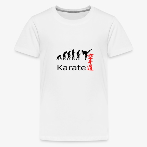 Karate Silhouette - Teenager Premium T-Shirt