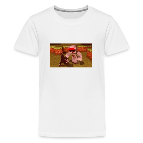 Repreax and his cat - Teenager Premium T-Shirt