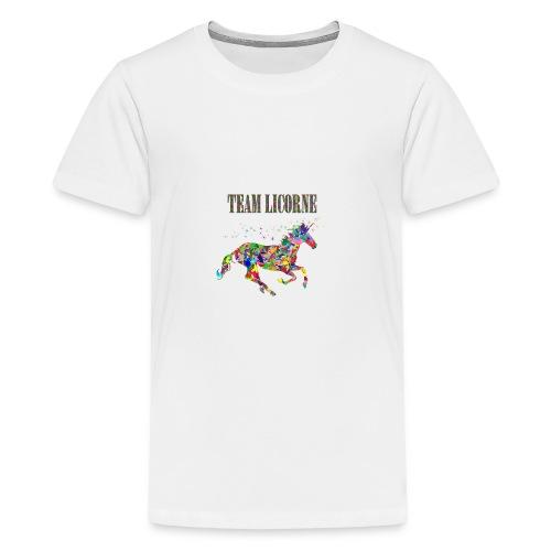 Team Licorne - T-shirt Premium Ado