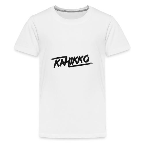 Kahikko Black - Teinien premium t-paita