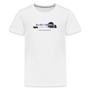 Radio PARALAX Facebook-Logo mit Webadresse - Teenager Premium T-Shirt