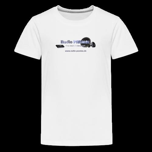 Radio PARALAX Facebook-Logo mit Webadresse - Teenager Premium T-Shirt