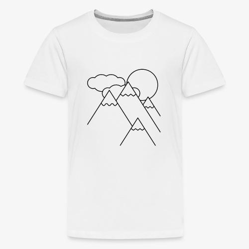 Bergen bij Dag - Teenager Premium T-shirt