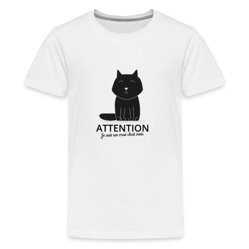 Chat noir - T-shirt Premium Ado