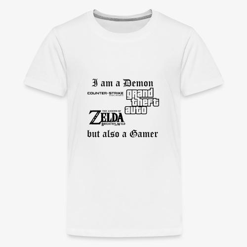 Demon also gamer - Teenager Premium T-Shirt