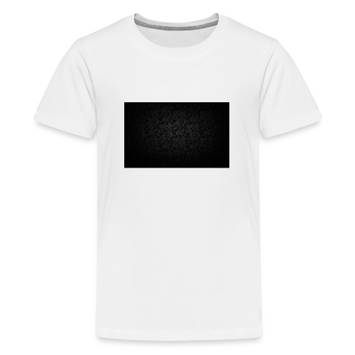black background pattern light texture 55291 3840x - Teenage Premium T-Shirt