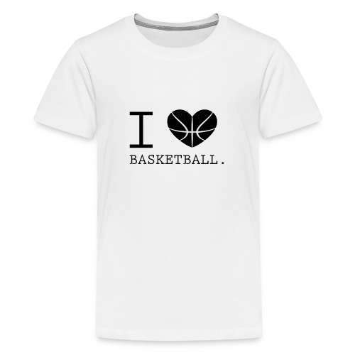 I love Basketball-Shirt T-Shirt Geschenk - Teenager Premium T-Shirt