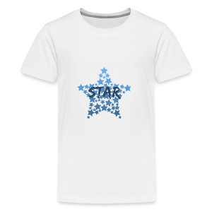 Blue star - Teenage Premium T-Shirt
