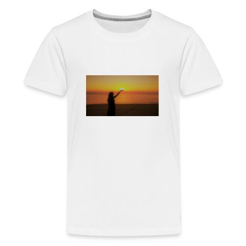 femme coucher de soleil - T-shirt Premium Ado