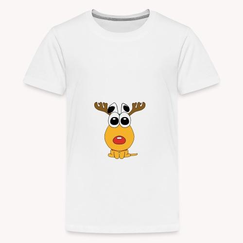 Sansone vestito da renna di Babbo Natale - Maglietta Premium per ragazzi