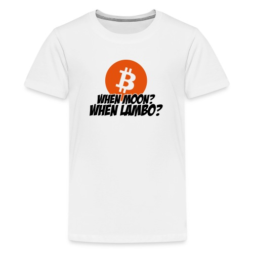 When Moon When Lambo - Teenage Premium T-Shirt