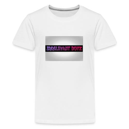 Irrelevant Boyz Grey And Luminous - Teenage Premium T-Shirt
