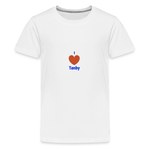 I love Tenby - Teenage Premium T-Shirt