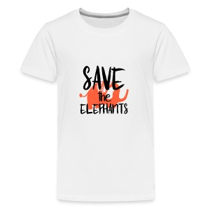 Save the Elephants - Teenage Premium T-Shirt