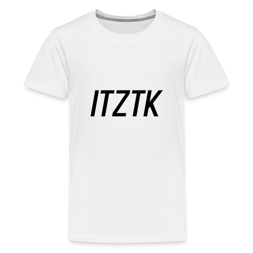 ItzTk black print - Teenage Premium T-Shirt